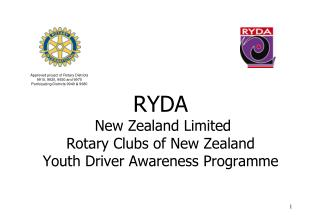 RYDA  New Zealand Limited Rotary Clubs of New Zealand Youth Driver Awareness Programme