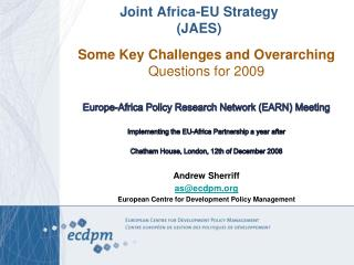 Joint Africa-EU Strategy (JAES)