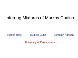 Inferring Mixtures of Markov Chains