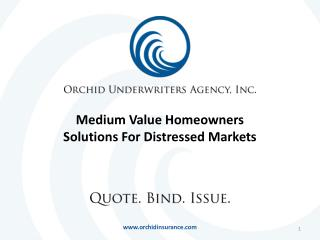 Medium Value Homeowners Solutions For Distressed Markets
