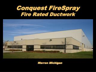 Conquest FireSpray Fire Rated Ductwork