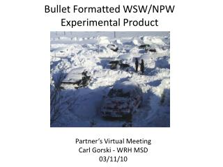 Bullet Formatted WSW/NPW Experimental Product