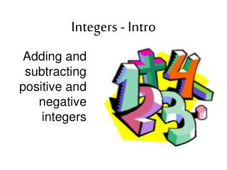 Integers - Intro
