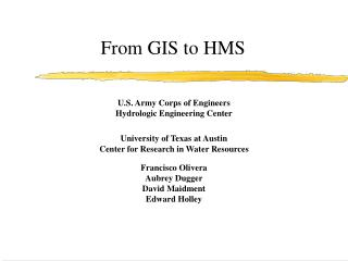 From GIS to HMS