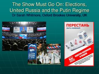 Elections Do Matter in Russia...