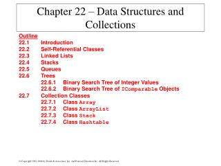 Chapter 22 – Data Structures and Collections