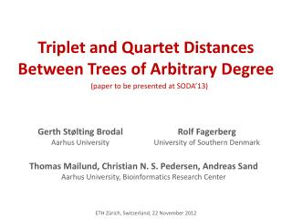 Triplet and Quartet Distances Between Trees of Arbitrary Degree