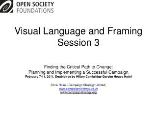 Visual Language and Framing Session 3