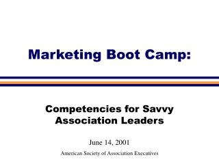 Marketing Boot Camp: