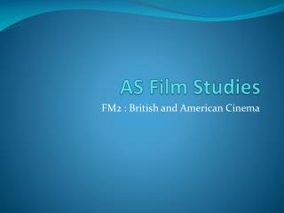 AS Film Studies