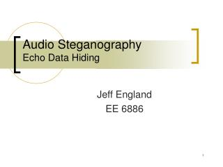 Audio Steganography Echo Data Hiding