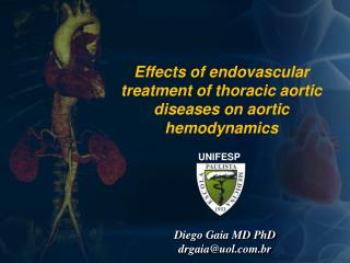 Effects of endovascular treatment of thoracic aortic diseases on aortic hemodynamics