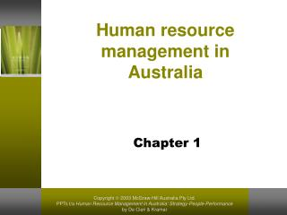Human resource management in Australia