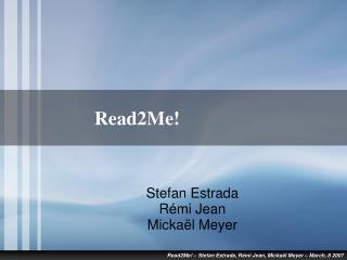 Read2Me!
