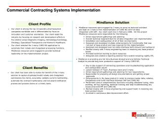 Commercial Contracting Systems Implementation