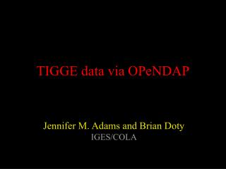 TIGGE data via OPeNDAP