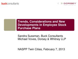 Trends, Considerations and New Developments in Employee Stock Purchase Plans