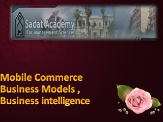 Mobile Commerce Business  Models , Business  intelligence