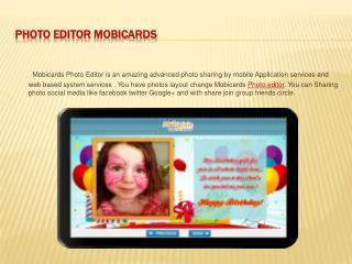 Photo Editor Mobicards