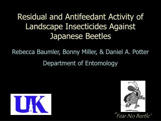 Residual and Antifeedant Activity of Landscape Insecticides Against Japanese Beetles