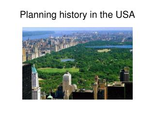 Planning history in the USA