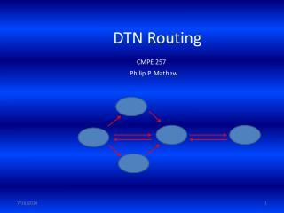 DTN Routing CMPE 257 Philip P. Mathew