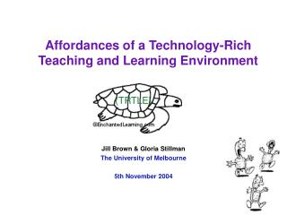 Affordances of a Technology-Rich Teaching and Learning Environment