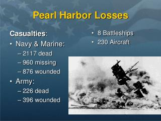 Pearl Harbor Losses