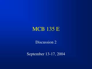 MCB 135 E
