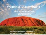 TOURISM IN AUSTRALIA