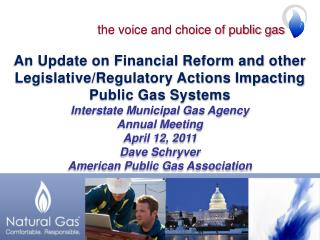 the voice and choice of public gas
