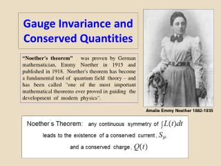 Gauge Invariance and Conserved Quantities