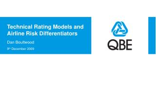 Technical Rating Models and Airline Risk Differentiators