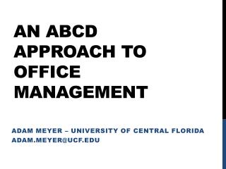 An ABCD approach to office management