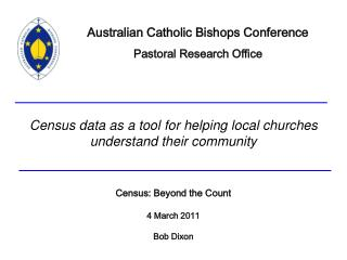 Census data as a tool for helping local churches understand their community