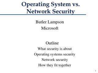 Operating System vs. Network Security