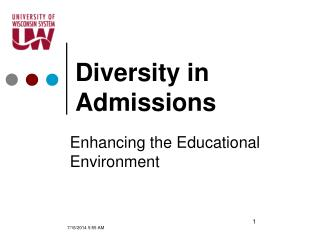 Diversity in Admissions