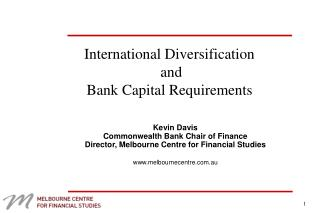 International Diversification  and  Bank Capital Requirements