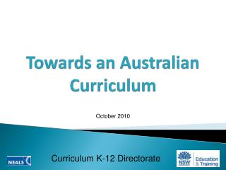 Towards an Australian Curriculum