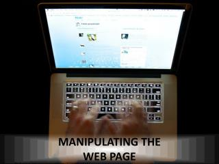 Manipulating the web page