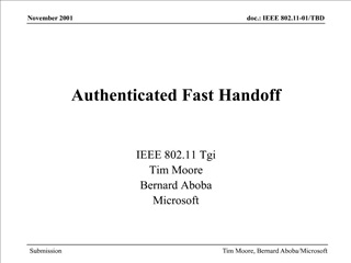 Authenticated Fast Handoff