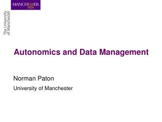 Autonomics and Data Management