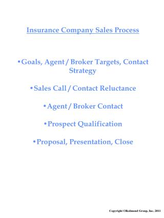 Insurance Company Sales Process