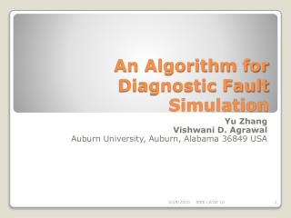 An Algorithm for Diagnostic Fault Simulation