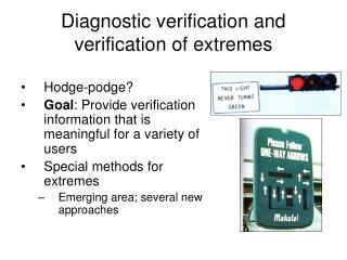 Diagnostic verification and verification of extremes