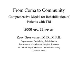 From Coma to Community