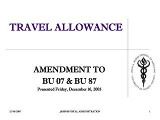TRAVEL ALLOWANCE