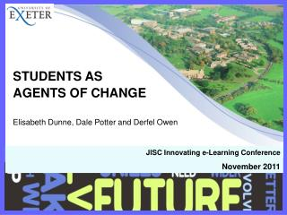 STUDENTS AS  AGENTS OF CHANGE