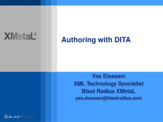 Authoring with DITA