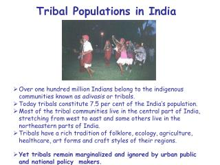 Tribal Populations in India